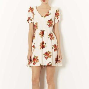 Topshop Autumn Floral Tea Dress